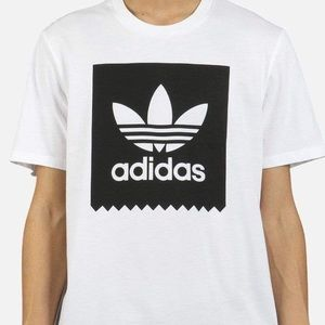 Adidas Logo Tee shirt Black/White Large